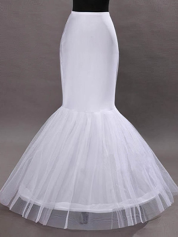 Nylon Mermaid and Trumpet Gown 1 Tier Floor-length Slip Style/Wedding Petticoats #LDB03130014