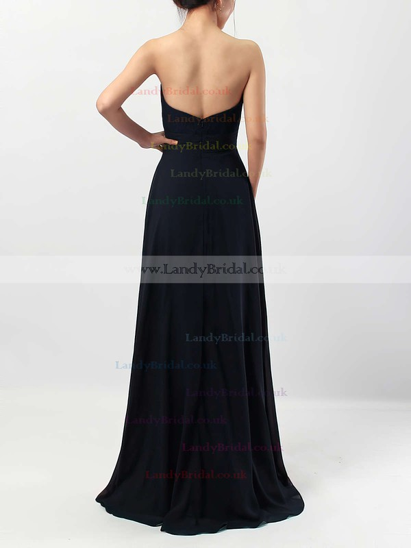 Lace Chiffon Scoop Neck A-line Floor-length Ruffles Bridesmaid Dresses #LDB01013518