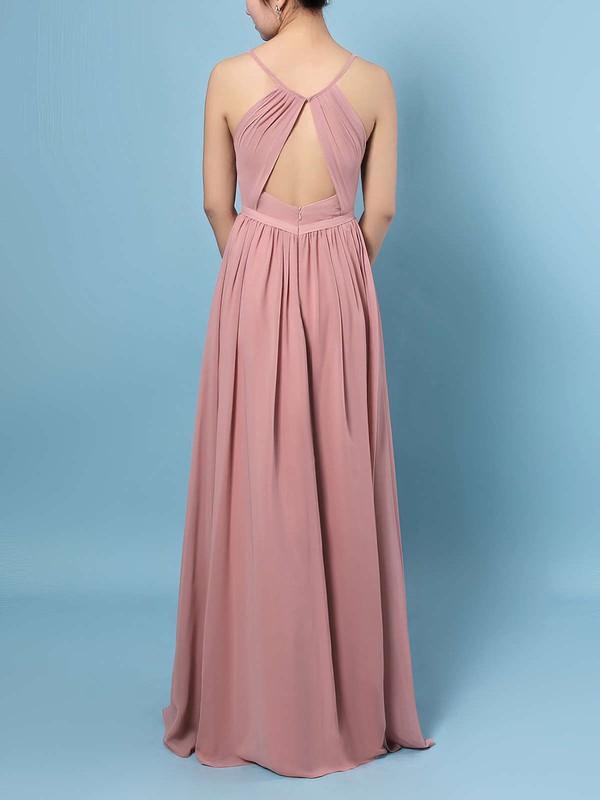 Chiffon V-neck A-line Floor-length Ruffles Bridesmaid Dresses #LDB01013467