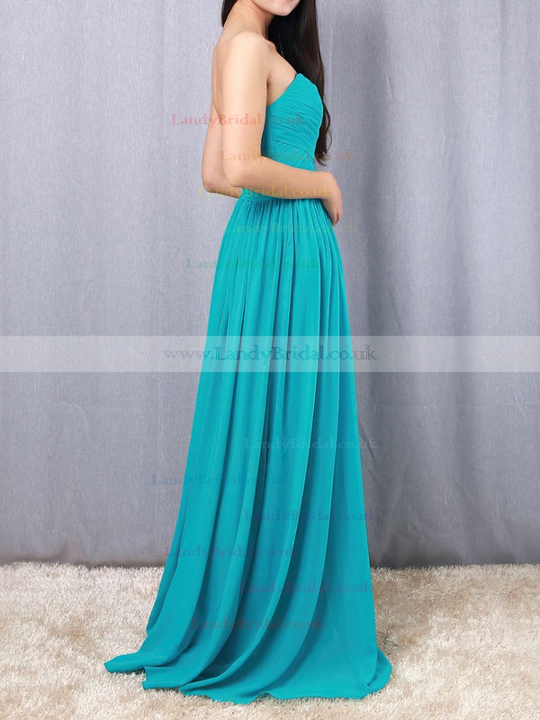 Chiffon Sweetheart Empire Floor-length Ruffles Bridesmaid Dresses #LDB01013493