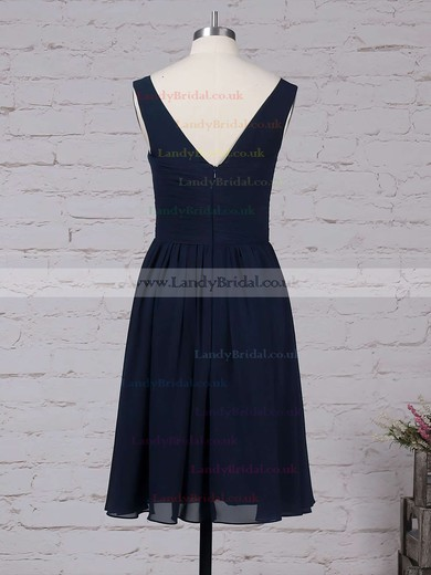 Chiffon Scoop Neck A-line Knee-length Ruffles Bridesmaid Dresses #LDB01013535