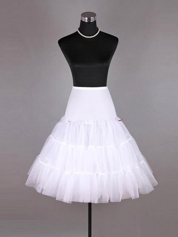 Flower Girl Tulle Netting A-Line 2 Tier Floor-length Slip Style/Wedding Petticoats