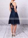 Sheath/Column Scoop Neck Lace Short/Mini Prom Dresses #LDB020105902