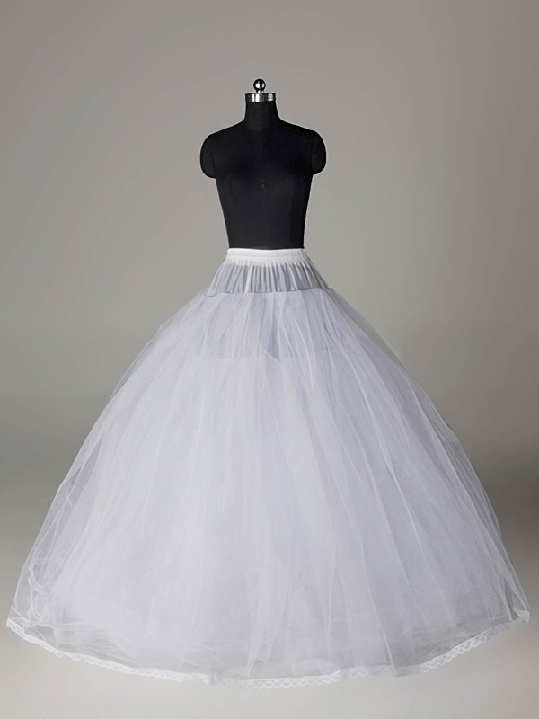 Nylon Ball Gown Full Gown 8 Tier Floor-length Slip Style/Wedding Petticoats #LDB03130017