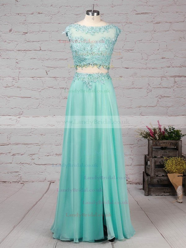 Silk-like Satin Scoop Neck Trumpet/Mermaid Sweep Train Beading Prom Dresses #LDB020101059