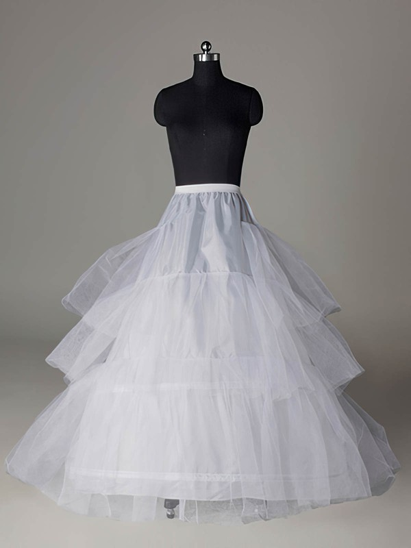 Nylon A-Line Full Gown Chapel Train 3 Tier Slip Style/Wedding Petticoats