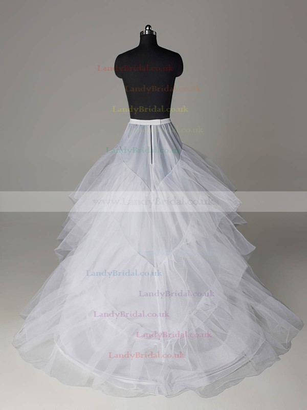 Nylon A-Line Full Gown Chapel Train 3 Tier Slip Style/Wedding Petticoats #LDB03130019