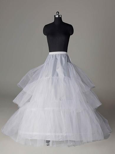 Nylon A-Line Full Gown Chapel Train 3 Tier Slip Style/Wedding Petticoats #LDB03130019