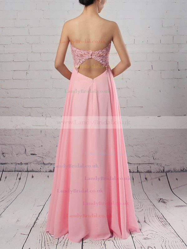 Chiffon Tulle Sweetheart A-line Floor-length Appliques Lace Prom Dresses #LDB020105072