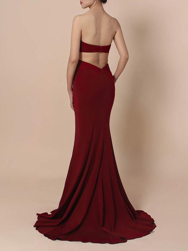 Silk-like Satin Sweetheart Sheath/Column Sweep Train Prom Dresses #LDB020105854