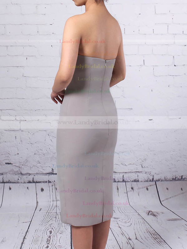 Chiffon Sweetheart Sheath/Column Knee-length Beading Mother of the Bride Dress #LDB01021718