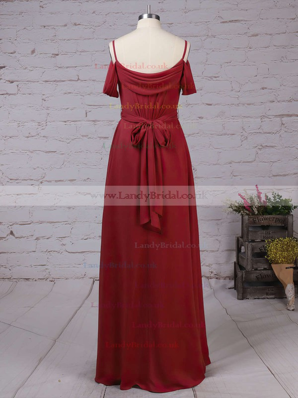 Chiffon V-neck A-line Floor-length Sashes / Ribbons Bridesmaid Dresses #LDB01013464