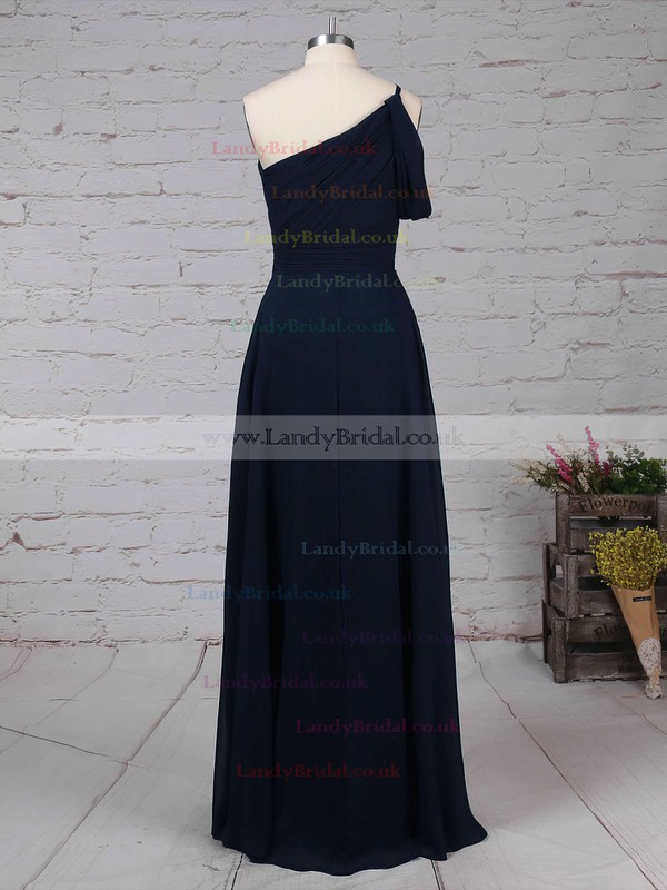 Chiffon One Shoulder A-line Floor-length Ruffles Bridesmaid Dresses #LDB01013484