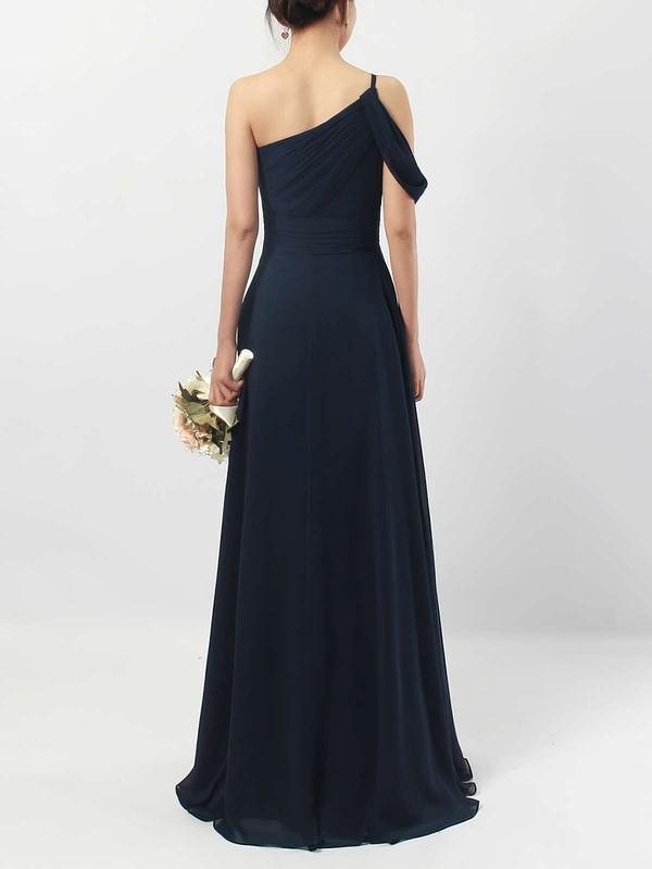 Chiffon One Shoulder A-line Floor-length Ruffles Bridesmaid Dresses #LDB01013484