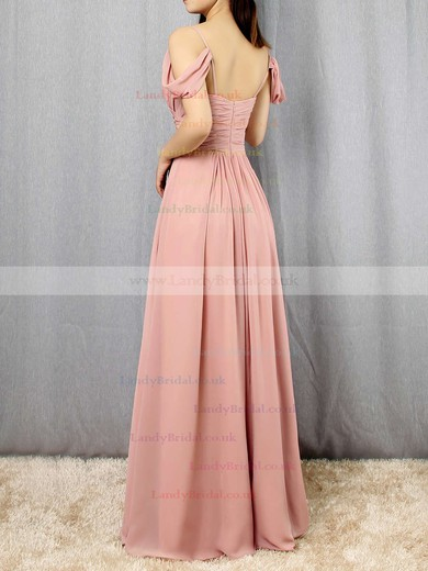 Chiffon V-neck Empire Floor-length Ruffles Bridesmaid Dresses #LDB01013507