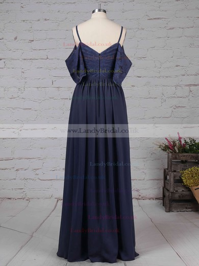 Lace Chiffon V-neck A-line Floor-length Ruffles Bridesmaid Dresses #LDB01013514