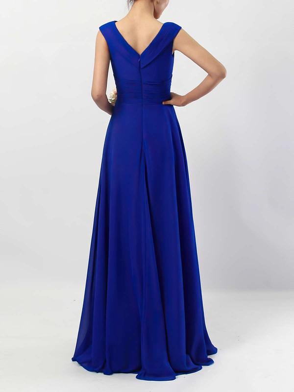 Chiffon V-neck A-line Floor-length Ruffles Bridesmaid Dresses #LDB01013522
