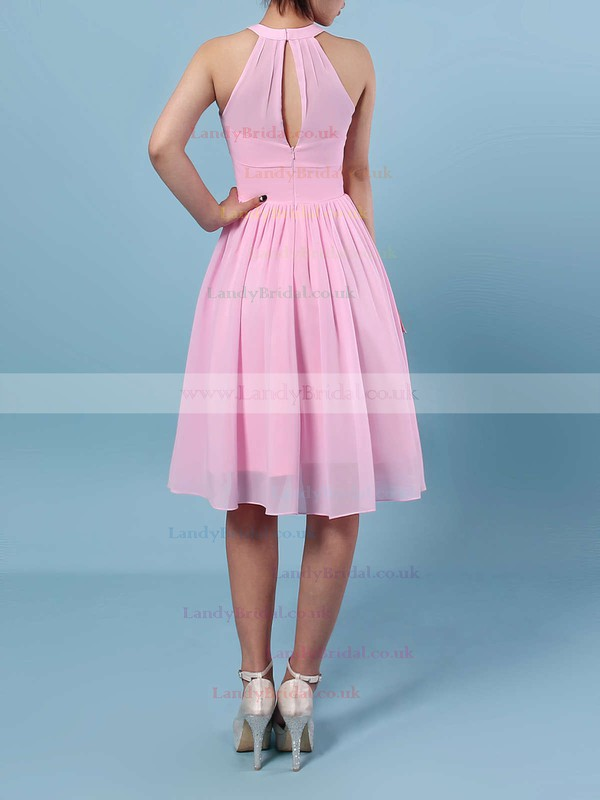 Chiffon Scoop Neck A-line Knee-length Ruffles Bridesmaid Dresses #LDB01013530