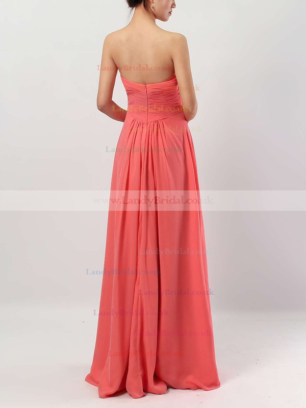Chiffon Sweetheart Empire Floor-length Ruffles Bridesmaid Dresses #LDB01013531