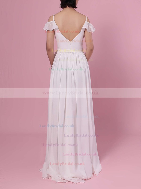 Chiffon V-neck A-line Floor-length Sashes / Ribbons Bridesmaid Dresses #LDB01013537