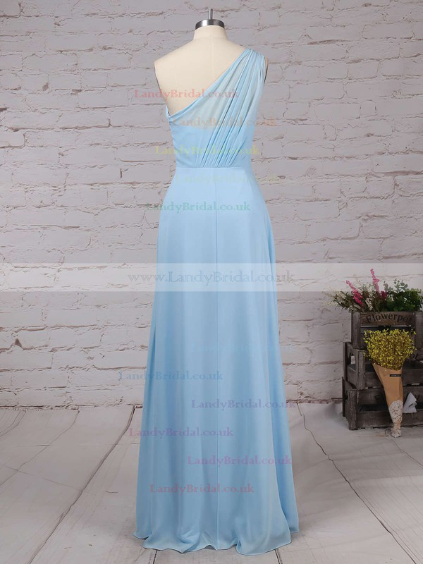 Chiffon One Shoulder A-line Floor-length Ruffles Bridesmaid Dresses #LDB01013561