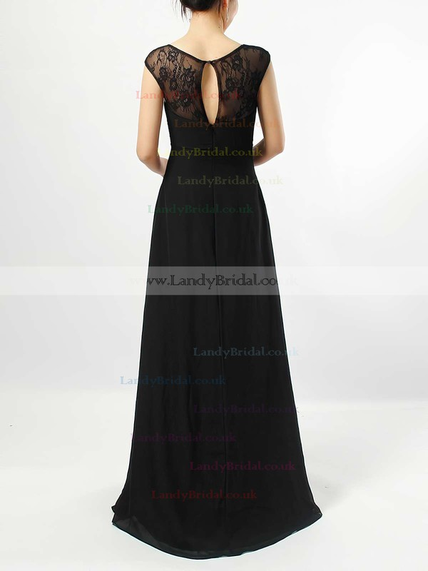 Lace Chiffon V-neck Empire Floor-length Ruffles Bridesmaid Dresses #LDB01013582