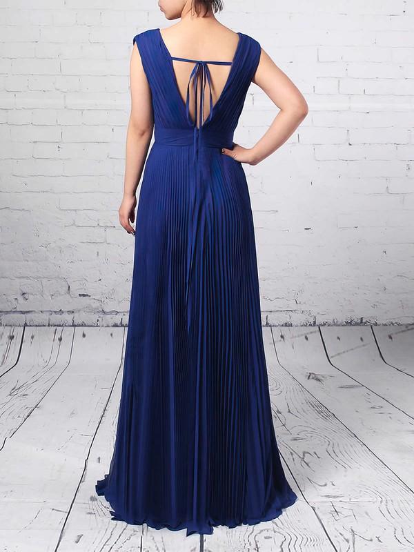 Chiffon V-neck A-line Floor-length Pleats Bridesmaid Dresses #LDB01013591