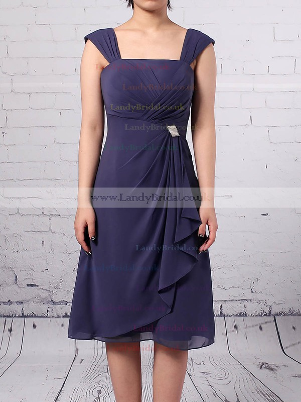 A-line Square Neckline Chiffon Knee-length Ruffles Mother of the Bride Dresses #LDB01021666