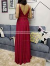 Chiffon V-neck Floor-length A-line Sashes / Ribbons Prom Dresses #LDB020105036