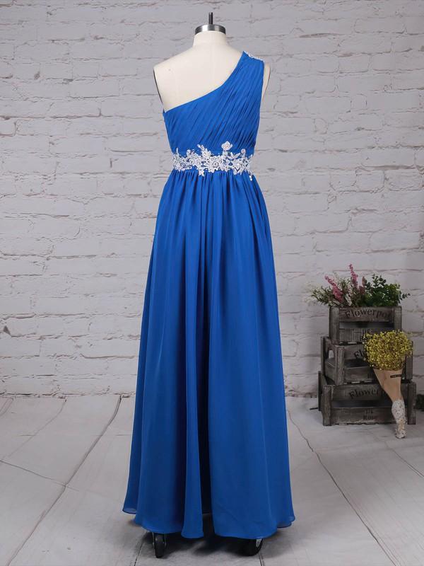 Chiffon One Shoulder Floor-length Empire Beading Prom Dresses #LDB020105040