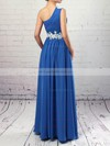 Chiffon One Shoulder Floor-length Empire Beading Prom Dresses #LDB020105040