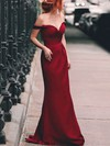 Silk-like Satin Off-the-shoulder Floor-length A-line Ruched Prom Dresses #LDB020105047