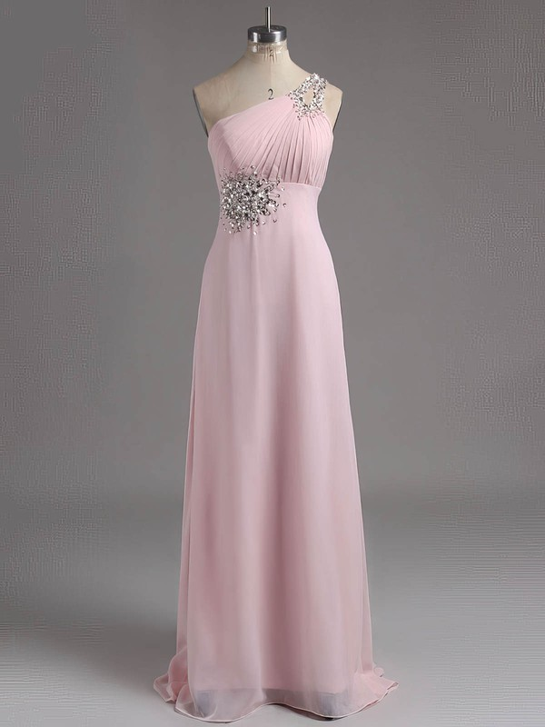 f11cb08bc6d Fashion A-line Blue Chiffon with Beading One Shoulder Lace-up Prom Dresses   LDB02014927