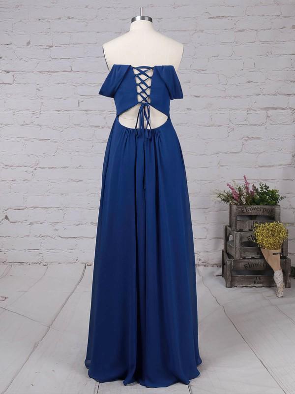 Chiffon Off-the-shoulder Floor-length A-line Ruffles Prom Dresses #LDB020105083