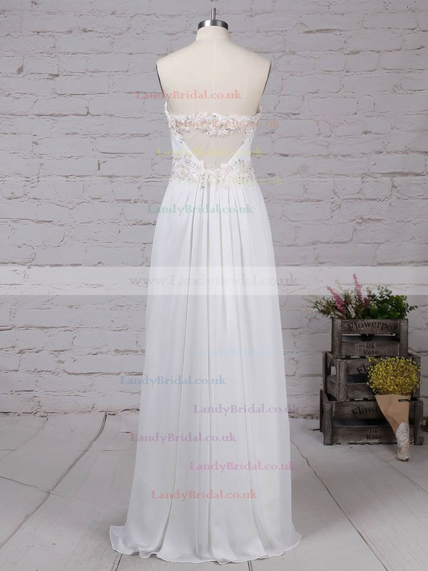 Chiffon Sweetheart Ankle-length A-line Appliques Lace Prom Dresses #LDB020105121