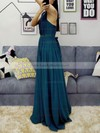 Chiffon Halter Floor-length A-line Sashes / Ribbons Prom Dresses #LDB020105870