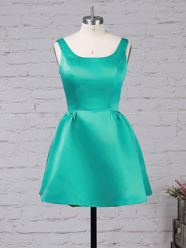 Satin Square Neckline Short/Mini A-line Prom Dresses #LDB020105898