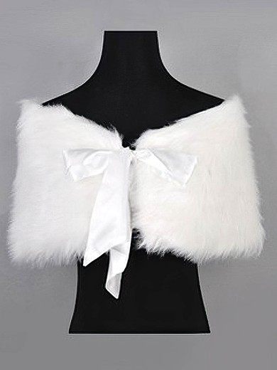 Feather/Fur with Ribbons Wedding/Party Shawls #LDB03040003