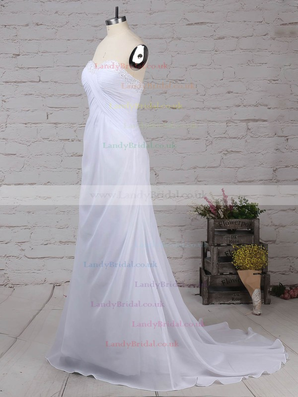 Chiffon Sweetheart Empire Sweep Train Beading Wedding Dresses #LDB00023249