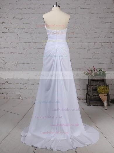 Chiffon Sweetheart Empire Sweep Train Beading Wedding Dresses #LDB00023249