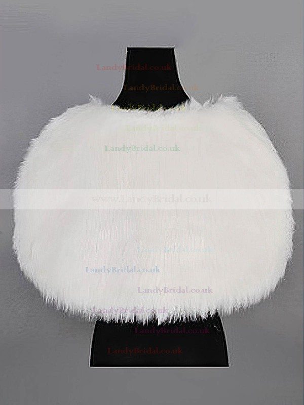 Sweet Faux Fur Evening/Wedding Shawls