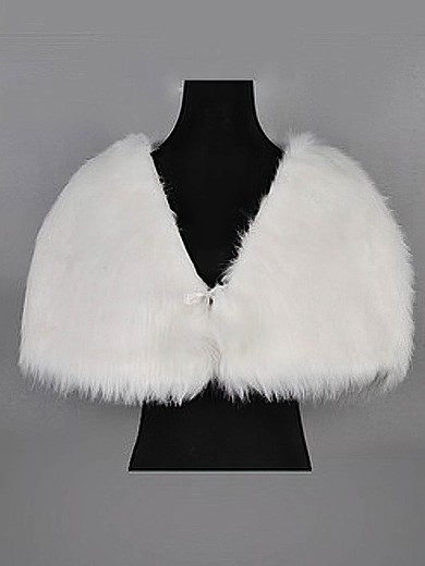 Sweet Faux Fur Evening/Wedding Shawls #LDB03040007