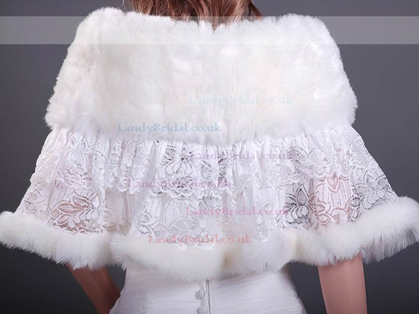Beautiful Faux Fur/Lace Wedding/Party/Evening Shawls