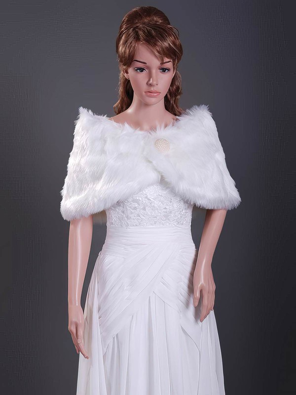 Feather/Fur Wedding Shawls #LDB1420012