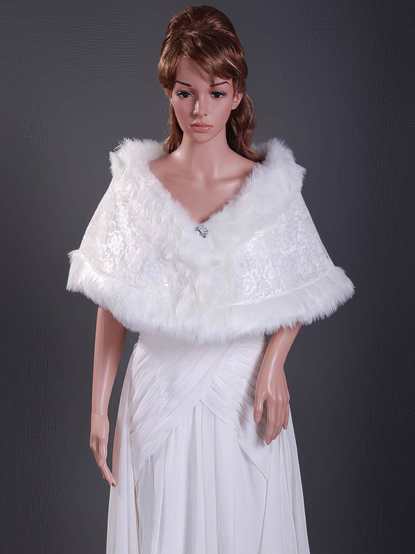 Faux Fur Wedding Shawls #LDB1420014