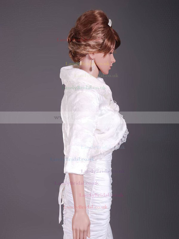 Elegant Half-Sleeve Faux Fur Party/Evening/Holiday/Wedding Jackets/Wraps