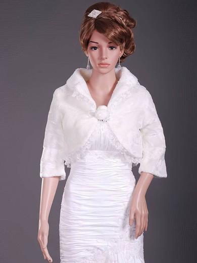 Elegant Half-Sleeve Faux Fur Party/Evening/Holiday/Wedding Jackets/Wraps #LDB1420017