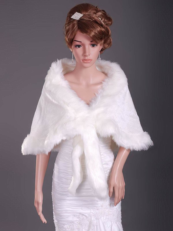 Gorgeous Feather/Fur Wedding Shawls #LDB1420024