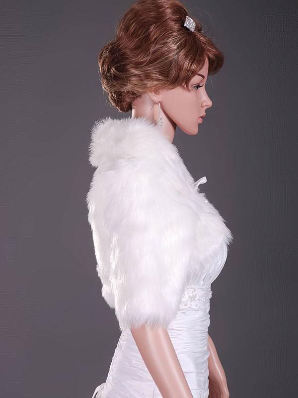 Half-Sleeve Feather/Fur Wedding Jackets/Wraps
