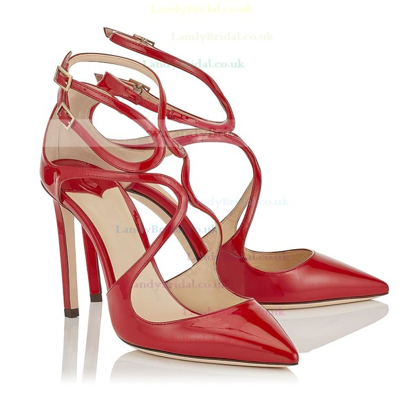 Women's Pumps Stiletto Heel Red Leatherette Wedding Shoes